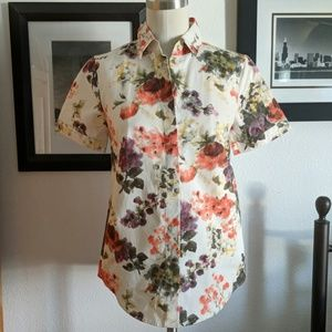 J.Crew Collection Floral Top Size 2